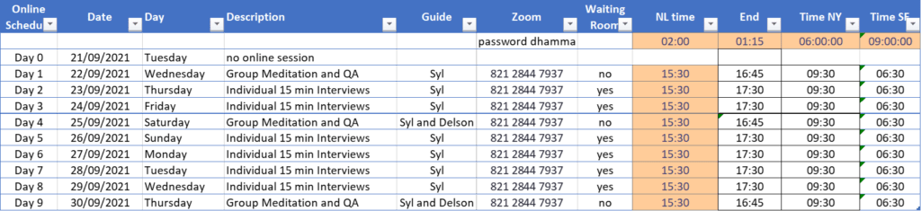 Schedule Online Retreat